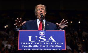 Donald Trump in Fayetteville. / Bild: (c) AFP
