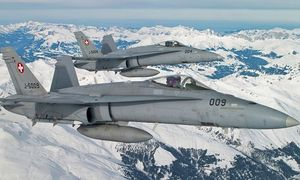 Zwei Schweizer Hornets / Bild: (c) Schweizer Luftwaffe