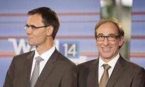 Landeshauptmann Markus Wallner (links) und der grüne Spitzenkandidat Johannes Rauch  / Bild: (c) APA/DIETMAR STIPLOVSEK (DIETMAR STIPLOVSEK)