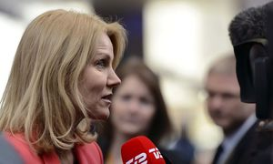 Denmark's PM Thorning Schmidt arrives at the European Union council headquarters for an EU leaders summit in Brussels / Bild: REUTERS
