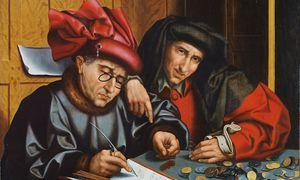 Bankiers und Kredithaie waren beliebte Motive des flämischen Renaissancemalers Marinus van Reymerswaele. / Bild: (c) RISD Museum