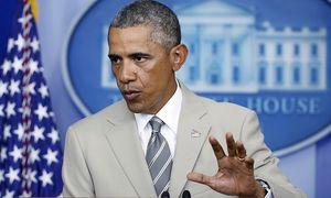 US-Präsident Barack Obama bei seinem Statement zur Ukraine-Krise am Donnerstag. / Bild: (c) REUTERS (LARRY DOWNING)