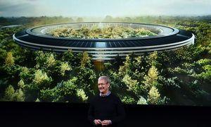 Apple-Chef Tim Cook zeigt das neue Apple-Bürogebäude aussehen soll / Bild: (c) APA/AFP/JOSH EDELSON (JOSH EDELSON)