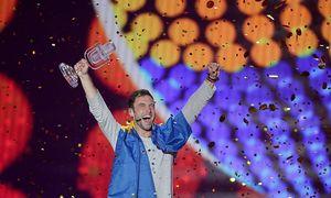 Mans Zelmerlöw bejubelt seinen Sieg / Bild: APA/EPA/GEORG HOCHMUTH