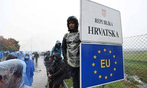 Grenze zwischen Slowenien und Kroatien. / Bild: (c) Imago