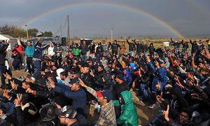 Die griechisch-mazedonische Grenze bei Gevgelija. / Bild: (c) Reuters (Stoyan Nenov)