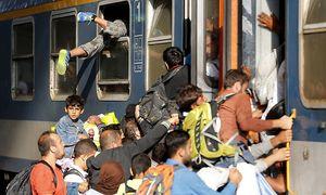 Tagelang warteten hunderte Flüchtlinge auf die Weiterreise. / Bild: REUTERS