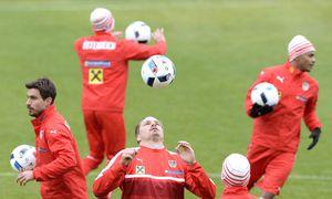 Proben für den Ernstfall: Österreichs Teamspieler üben in der Schweiz.  / Bild: ROBERT JAEGER / APA / picturedesk.com