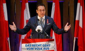 Heinz-Christian Strache bei seiner Rede im Palais Epstein. / Bild: (c) REUTERS (HEINZ-PETER BADER)