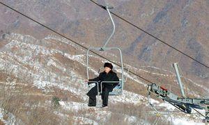 Nordkoreas Führer, Kim Jong-un, besichtigte vor einigen Jahren das Skigebiet Masikryong, wie dieses Archivbild zeigt.  / Bild: (c) EPA (RODONG SINMUN)