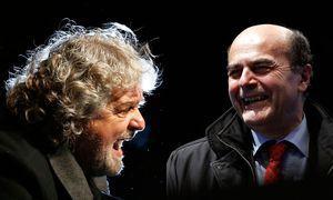 Grillo und Bersani / Bild: (c) APA/Reuters