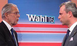 Van der Bellen; Hofer / Bild: (c) APA/AFP/JOE KLAMAR (JOE KLAMAR)