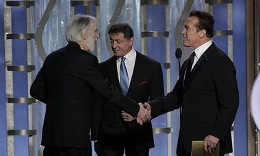 Haneke mit Stallone und Schwarzenegger