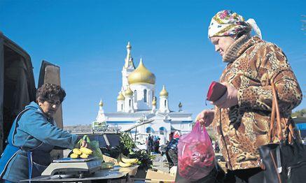 Ein Markt in Russland: Einheimische Lebensmittel haben oft eine schlechtere Qualität als die boykottierten aus Europa. / Bild: (c) Reuters