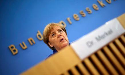 Angela Merkel bei ihrer Rede. / Bild: (c) Reuters (Hannibal Hanschke)