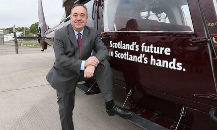 """Alex Salmond: """"Schottlands Zukunft - unser Land in unserer Hand."""" / Bild: (c) Reuters (PAUL HACKETT)"""