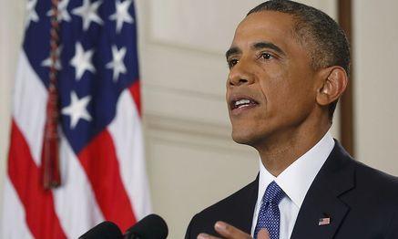 US-Präsident Obama in einer Fernsehansprache in Washington. / Bild: (c) REUTERS (JIM BOURG)