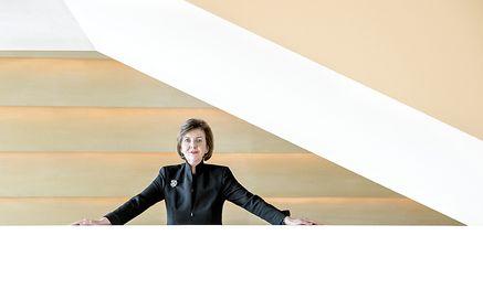 """""""Da ich mich entschlossen habe, mich neuerlich zu bewerben, möchte ich es auch werden"""", sagt Festspielpräsidentin Helga Rabl-Stadler. / Bild: (c) Luigi Caputo/Salzburger Festspiele/"""