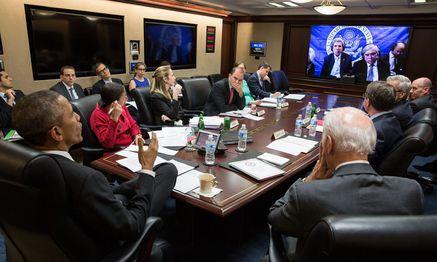 Videokonferenz zu Atomgesprächen / Bild: (c) APA/EPA/WHITE HOUSE / Pete Souza (WHITE HOUSE / Pete Souza)