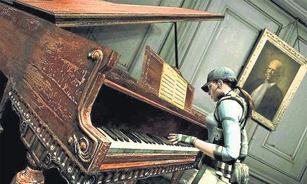"""Nur die Musik des Genies öffnet den geheimen Raum: Beethovens """"Mondscheinsonate"""" dient im düsteren Ego-Shooter """"Resident Evil"""" als Sesam-öffne-dich.  / Bild: Web"""