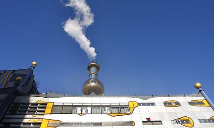 Eine der größten Wiener Fernwärmelieferanten: Die Müllverbrennungsanlage Spittelau / Bild: APA