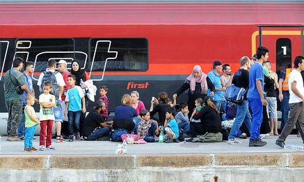Mehr als 3000 Flüchtlinge reisten von Ungarn aus über Wien in Richtung Deutschland. / Bild: (c) Clemens Fabry
