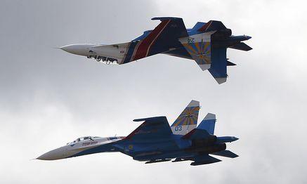 Sukhoi Su-27 Kampfjets bei einer Übung. / Bild: (c) REUTERS (� MAXIM ZMEYEV / Reuters)