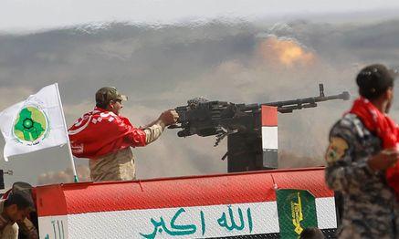 Irakische Kräfte mit shiitischer Unterstützung. / Bild: (c) Reuters (Thaier Al-Sudan)