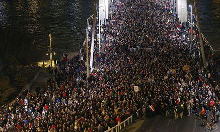 Proteste in Budapest / Bild: (c) REUTERS (� Laszlo Balogh / Reuters)
