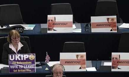Ohne britische Abgeordnete würden sich die Mehrheitsverhältnisse im Europaparlament verschieben. / Bild: (c) AFP (FREDERICK FLORIN)