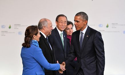 Klimagipfel: Barack Obama, Ban Ki-moon / Bild: (c) imago/UPI Photo (imago stock&people)