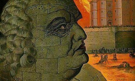 Das Monster baut sich seine eigenen Mauern: Man Rays Sade-Porträt nach zeitgenössischen Beschreibungen. / Bild: Beck Verlag