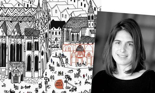 Stefanie Hilgarth zeichnet auch immer wieder Karten und Stadtpläne.