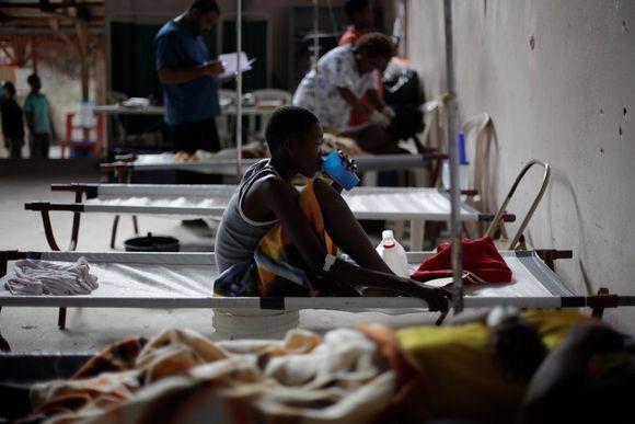 Cholerapatienten in Port-au-Prince, Haiti.