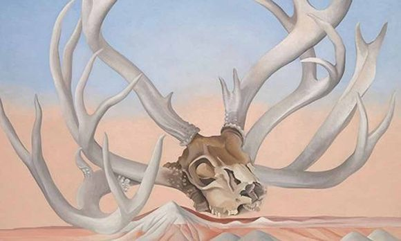 "O'Keeffe bediente den Mythos US-Kunst durchaus ironisch: ""From the Faraway, Nearby"", 1937."