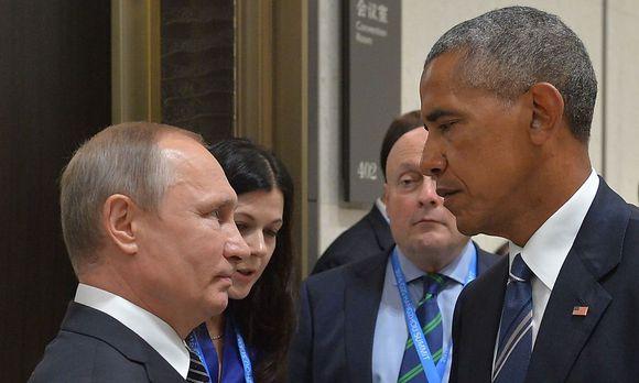 Russlands Präsident Wladimir Putin mit Amtskollegen Barack Obama.