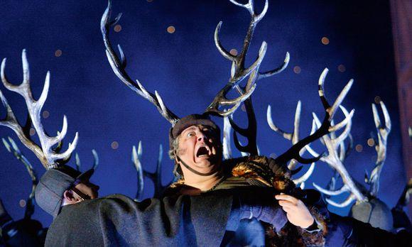 """London. """"Ich thats mit Fleiße"""", singt Sir John Falstaff. Fürwahr. Ambrogio Maestri brilliert in der schweren Verdi-Partie an vielen bedeutenden Opernhäusern, hier in Covent Garden."""