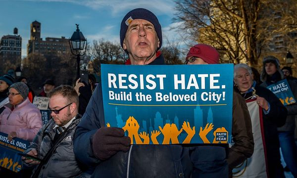 Protest gegen Trump  / Bild: imago/Pacific Press Agency