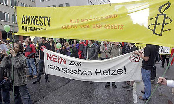 Archivbild: Demo für die Familie Zogaj / Bild: (c) APA/GEORG HOCHMUTH (Georg Hochmuth)