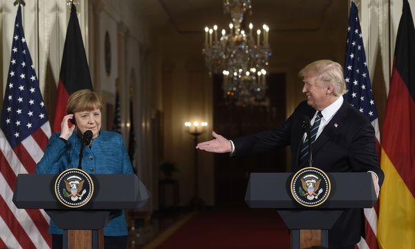 Merkel bei Trump in Washington. / Bild: (c) APA/AFP/SAUL LOEB