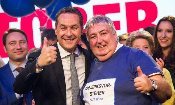 Heinz-Christian Strache und Paul Stadler. / Bild: (c) APA/EXPA/MICHAEL GRUBER (EXPA/MICHAEL GRUBER)