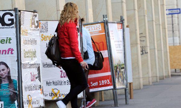 Klau Wahlplakaten oeHKoalition Graz / Bild: (c) Die Presse (Clemens Fabry)