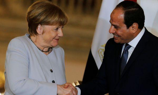 Merkel und Präsident al-Sisi. / Bild: REUTERS