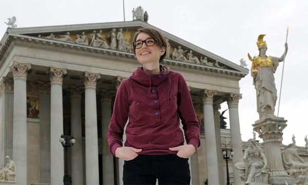 Sigi Maurer Audimax Parlament / Bild: (c) Die Presse