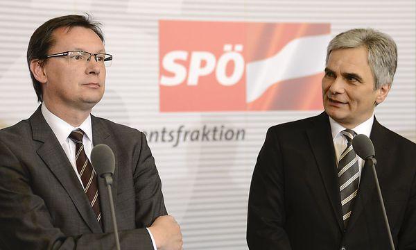 Norbert Darabos; Werner Faymann / Bild: APA/HERBERT NEUBAUER
