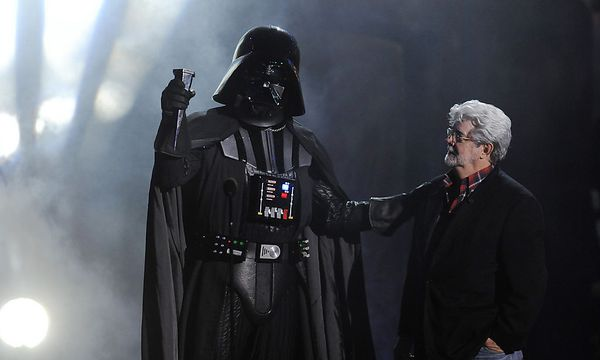 Archivbild: George Lucas, Darth Vader. / Bild: AP