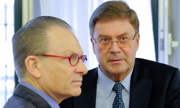 Ex-Immofinanz-Chef Karl Petrikovics (r.) und Anwalt Georg Zanger / Bild: (c) APA (Herbert Neubauer)