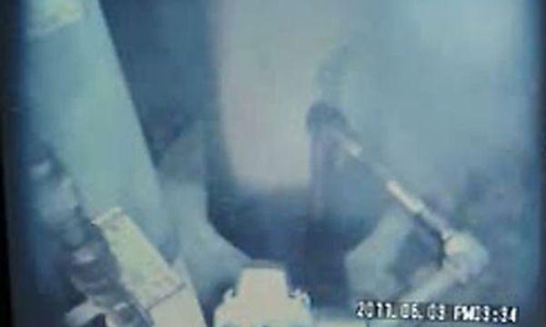 Videoaufnahme aus dem Inneren des AKW Fukushima zeigt Dampfwolken / Bild: (c) AP ()