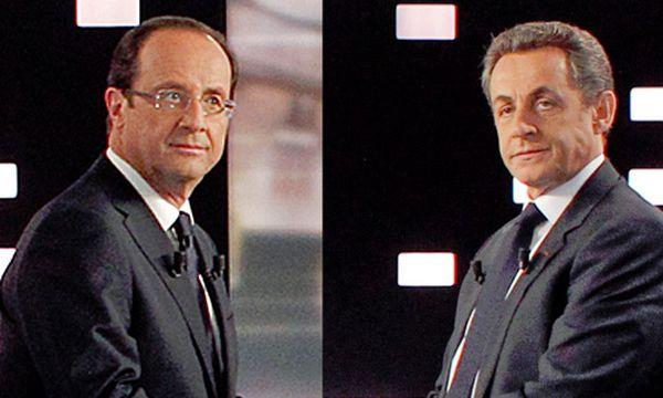Hollande und Sarkozy / Bild: (c) AP (Montage: DiePresse.com)