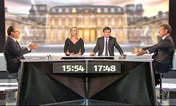 Frankreichs Präsident Nicolas Sarkozy und seinem Herausforderer Francois Hollande  / Bild: (c) rca